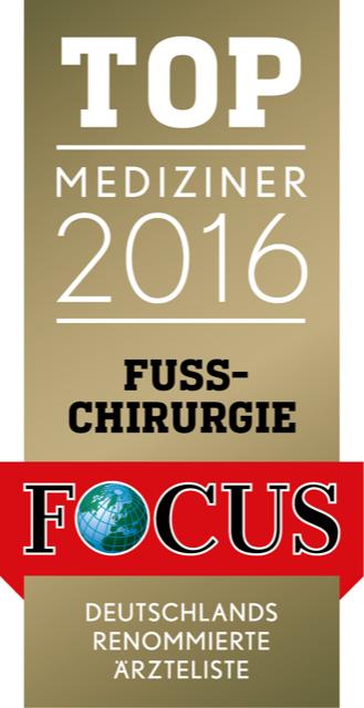 Focussiegel Fußchirurgie 2016