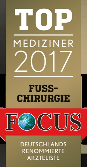 Focussiegel Fußchirurgie 2017