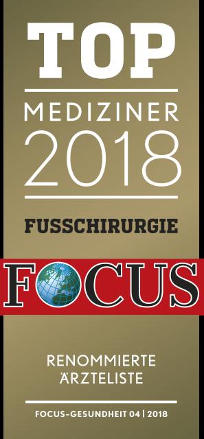 Focussiegel Fußchirurgie 2018