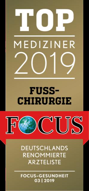 Focussiegel Fußchirurgie 2019