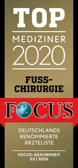 Focussiegel Fußchirurgie 2020