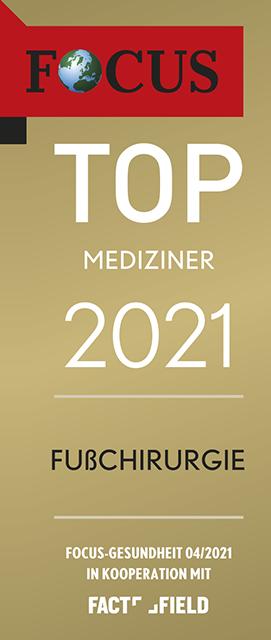 Focussiegel Fußchirurgie 2021
